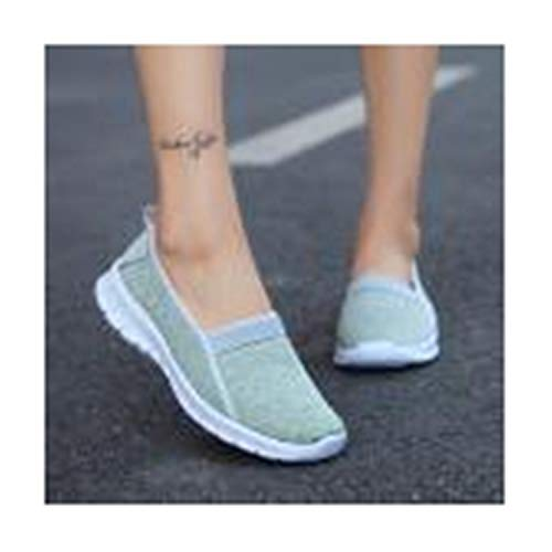 New Mib Mint - Micca Bacain-Women Fashion Women Lazy Shoes New Female Shoes Summer Wedge Comfortable Sandals Ladies Slip-on Flat Sandals Mint Green