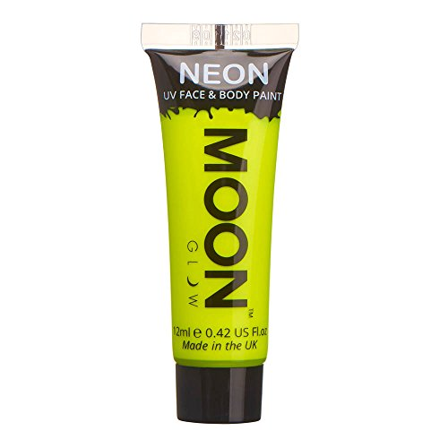 Moon Glow - 0.42oz Blacklight Neon UV Face & Body Paint - Intense (Neon Yellow Body)
