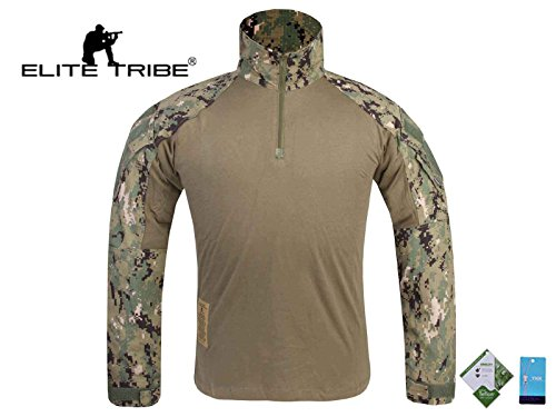 Men Military Paintball Clothes Airsoft Hunting BDU Shirt Combat Tactical Gen3 Shirt AOR2 (S)