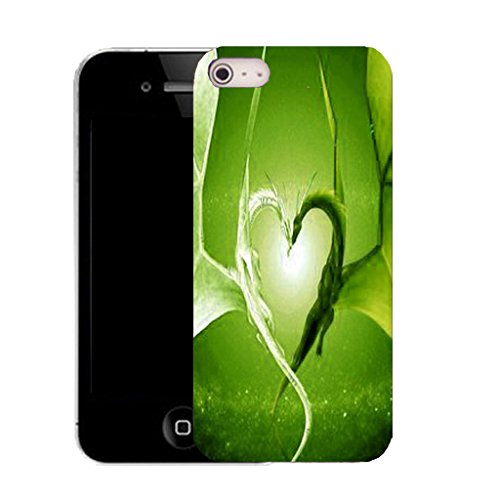 Mobile Case Mate IPhone 4s clip on Silicone Coque couverture case cover Pare-chocs + STYLET - green affection pattern (SILICON)