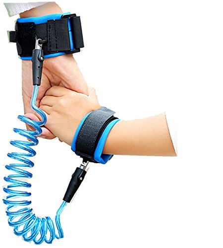 [Sunshine Baby Child Anti Lost Safety Velcro Wrist Link for Toddler Kids Harness Strap Rope Leash Walking Hand Belt (Blue)(2.5m)] (Sunshine Kids Child Harness)