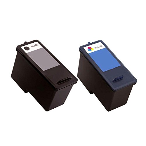 (Toner Spot Remanufactured Full Color Set Ink Cartridges Replacement for Dell CN594/JP451 and CN596/JP453 Series 11 (Black and Color))
