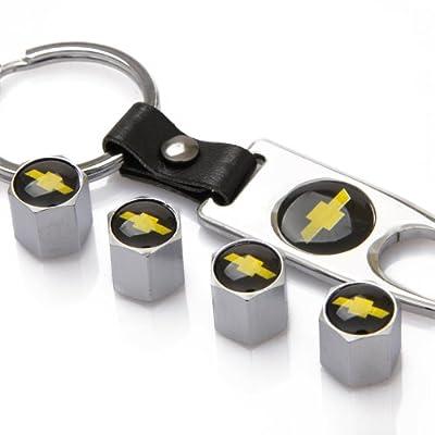 ZKHXFS zinc Alloy tire Valve Cap Keychain Apply to for Chevrolet: Automotive