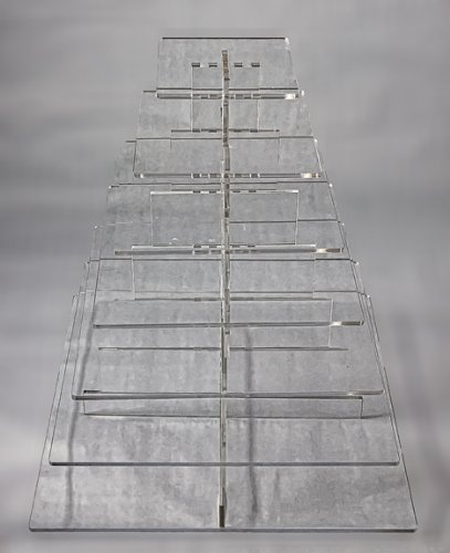 Cupcake & Pastry Stand, Clear Acrylic Square 7 Tier by GSA