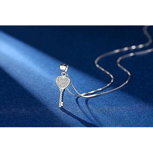 3e8dd493b Coai - Collar con colgante de corazón de plata de ley 925 para ...