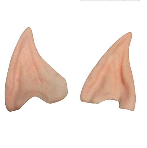 TENND Halloween Party Fairy Pixie Elf Fake Ears Cosplay Accessories Soft Pointed Prosthetic Tips Ear Wearing