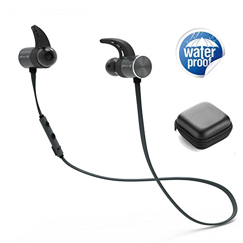 Price comparison product image Bluetooth Headphones, Sports Waterproof Headset Double Battery Super Long 8 Hours Playtime HD Stereo Sweatproof In Ear Earbuds For iPhone X 8 7 6s Plus Samsung Galaxy S8 S7 S6 Edge+ Note 8