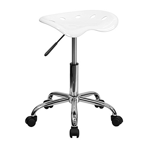 Offex Vibrant Tractor Seat Stool, White