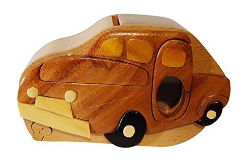 Wooden Pickup Truck (Handmade Pickup truck Wooden Money Box Piggy Bank (4738))