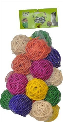Medium Ball Hive Bird Toy - 25 Pcs by Happy Beaks