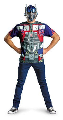 Transformers Dark of the Moon Optimus Prime T-Shirt and Mask Halloween Costume - Adult Standard One Size 42-52