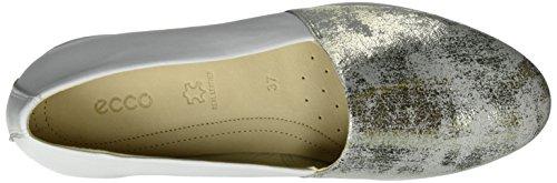 2 Silber Touch Ballerines 0 58498GRAVEL Ballerina Femme Ecco WHITE RPqEBxfq