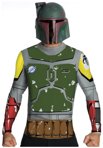 [Rubies Mens Shirt Cape Mask Star Wars Boba Fett Bounty Hunter Costume, Medium (38-40)] (Boba Fett Costume Cheap)