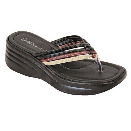 Ladies Sandals Womens Diamante Slip On Toe Post Thong Slippers Comfortable New Multicolour - Sh574