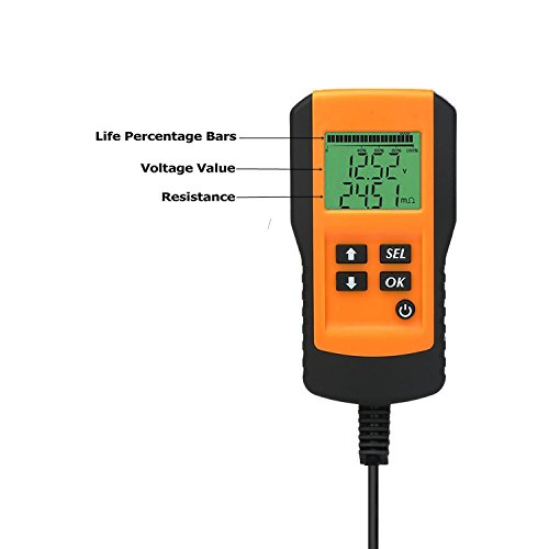 Car Battery Load Tester Digital 12V Car Battery Tester Automotive Battery Load Tester and Analyzer Of Battery Life Percentage,Voltage, Resistance and CCA Value For Gel, AGM, Flood, Deep Cycle Check by Enbar (Image #1)