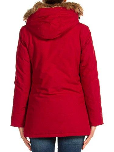 Carrera Parka Pour Rouge Longue Unie Normale 482 461 Manche Taille Femme Jeans Couleur Rubis rFwCtx5qra