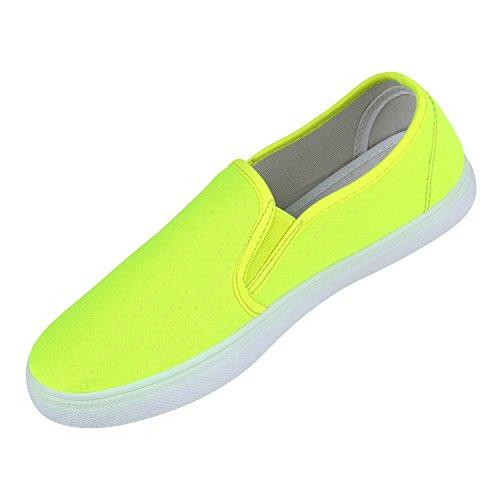 Damen Herren Unisex Slip-Ons Schuhe Comouflage Stoffschuhe Neon Sneakers  Glitzer Komfortschuhe Bequeme Slipper Übergrößen ...