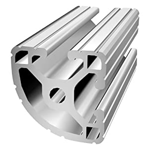 "80/20 Inc., 1517, 15 Series, 1.5"" x 1.5"" T-Slotted Quarter Round Extrusion x 72"" from 80/20 Inc."