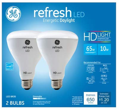 G E LIGHTING 41054 Refresh LED Light Bulbs, Daylight, 650 Lumens, 10-Watts, 2-Pk. - Quantity 1