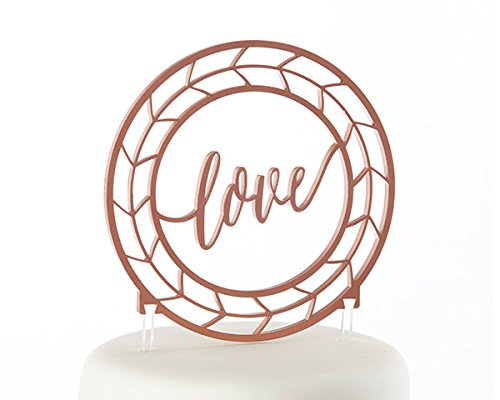 8 Geometric Copper Love Cake Toppers by Kate Aspen (Image #2)