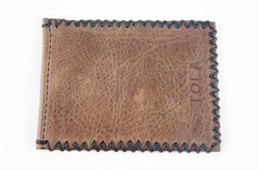 Black Stanley Stitching Card Holder Brown Leather Men's Tola Tola Men's zTcWz18