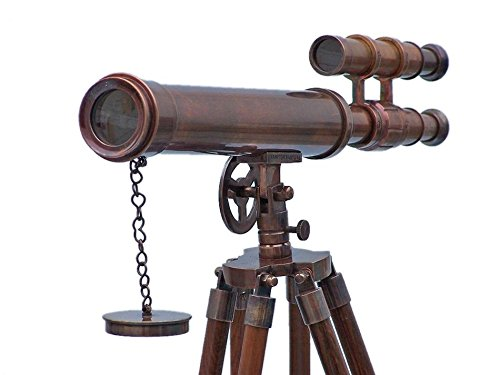 Floor Standing Antique Copper Griffith Astro Telescope 45'' - Vintage Telescope by Handcrafted Model Ships