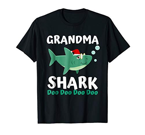 Grandma Shark Christmas Shirt Mommy Shark Daddy Shark -