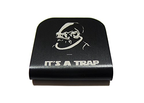 Jango Fett Jetpack Costume (Admiral Ackbar It's A Trap Star Wars Morale Tags Hat Clip for Tactical Patch Caps (Black))