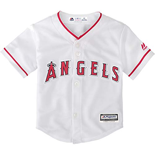Outerstuff Majestic Shohei Ohtani Los Angeles Angels #17 Youth Cool Base Home Jersey (Youth Small 8)