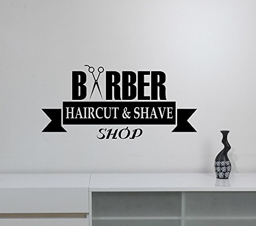 Barbershop Window Sign Vinyl Decal Removable Wall Sticker Barber Hair Haircut Hairdressing Salon Decorations Art Decor bsh8]()
