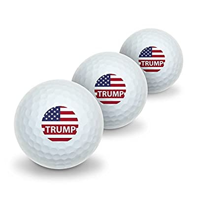 President Trump American Flag Novelty Golf Balls 3 Pack