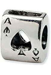 Reflections Sterling Silver Ace Card Bead / Charm