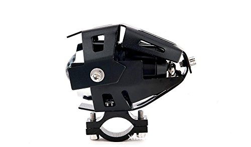 GOODKSSOP 2pcs Super Bright 3000LM CREE U5 125W LED Motorcycle Universal Headlight Work Light Driving Fog Spot Lamp Night Safety Headlamp + 1pcs Switch (Black) by GOODKSSOP (Image #4)
