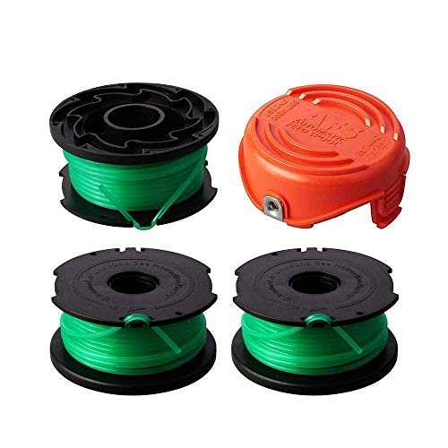 Thten String Trimmer Spool Replacement for Black and Decker SF-080 GH3000 LST540 Weed Eater 20ft 0.080″ GH3000R LST540B Auto Feed Single Line with 90583594 Cap Covers Parts