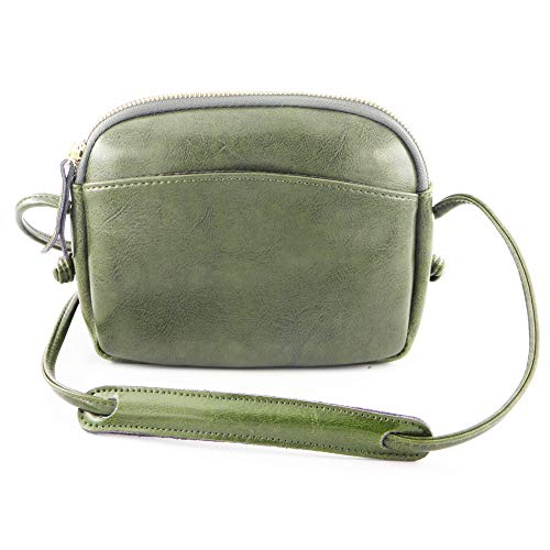 Genuine Light Green - Genuine Leather Small Crossbody Bag for Women Girls Cell Phone Purse Wallet Lightweight (PU_Green)