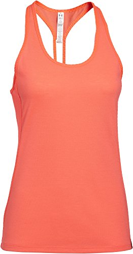 Under Armour Fly By Stretch Mesh Women's Tank - SS15 - Large - Orange