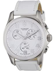 Victorniox Mens 241500 Chrono Classic White Leather Watch