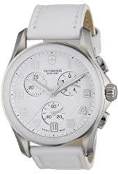 Victorniox Men's 241500 Chrono Classic White Leather Watch