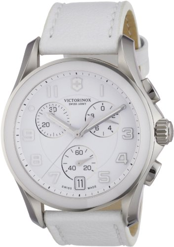 Victorniox Men's 241500 Chrono Classic White Leather Watch