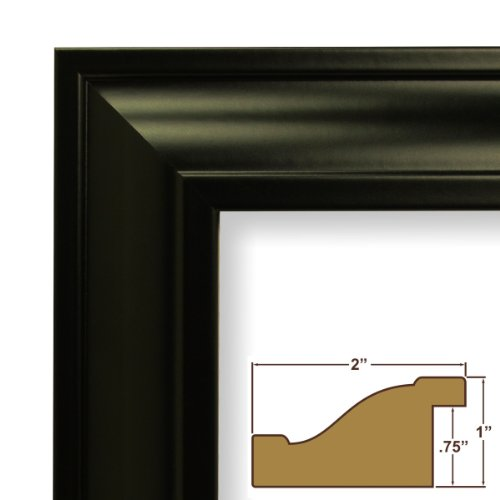 "21x34 Poster Frame, Smooth Finish, 2"" Wide, Black, .093"" Acrylic, Foamcore (21834700BK)"
