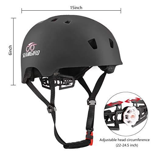 SLANIGIRO Skateboard-Bike-Cycling-Roller-Skate Helmet for Men-Women-Youth-Adult Lightweight in-Mold Design CPSC Certified M//L 22-24.5inches