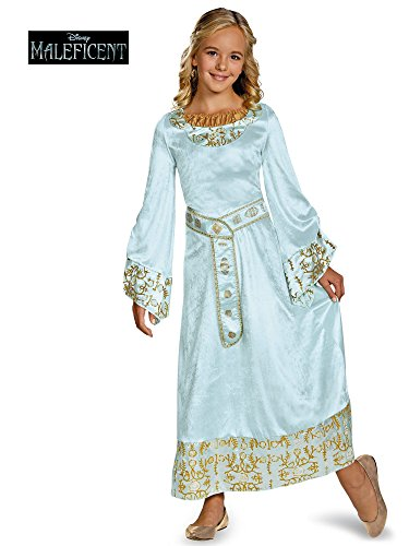 (Disney Maleficent Movie Aurora Girls Blue Dress Deluxe Costume,)