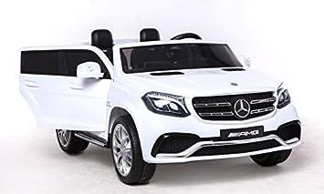 Riricar Mercedes Benz Gls 63 Weiss Elektrisches Auto Für Kinder