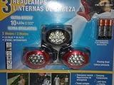 3 Head Lamps Ultra Bright 10 Leds Per Headlamp