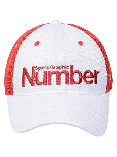 (ナンバー) Number メッシュキャップ FREE ホワイト/レッド