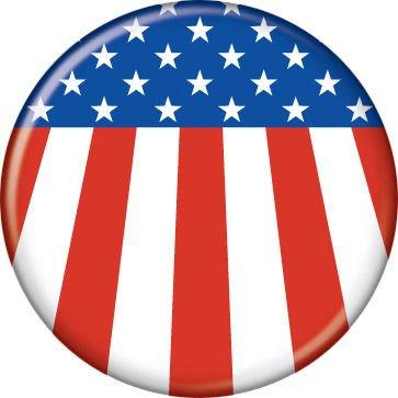 American Flag - Patriotic - Pinback Button 1.25