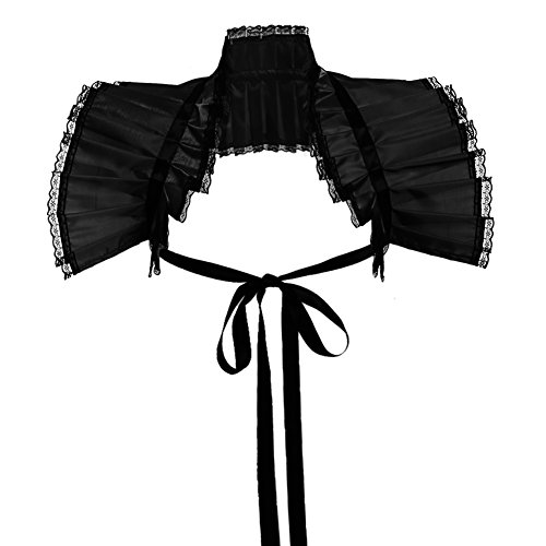 - GRACEART Victorian Ruffled Bolero Collar (Black)