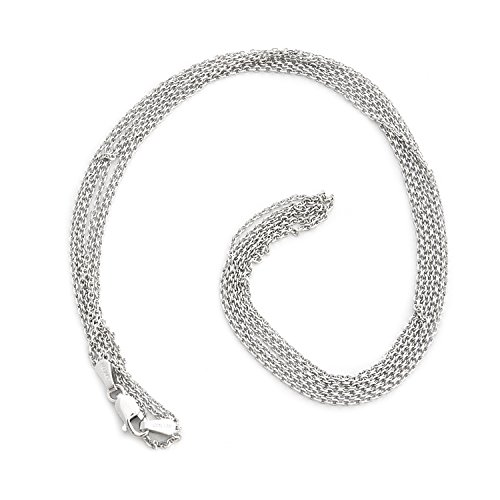 Three Strand Cable Chain (14k White Gold 3 Strand 1.1mm Cable Chain Necklace, 18