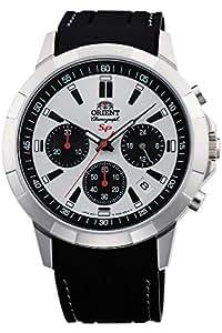 Orient Reloj Cronógrafo para Hombre de Cuarzo con Correa en Caucho FKV00008W0: Amazon.es: Relojes