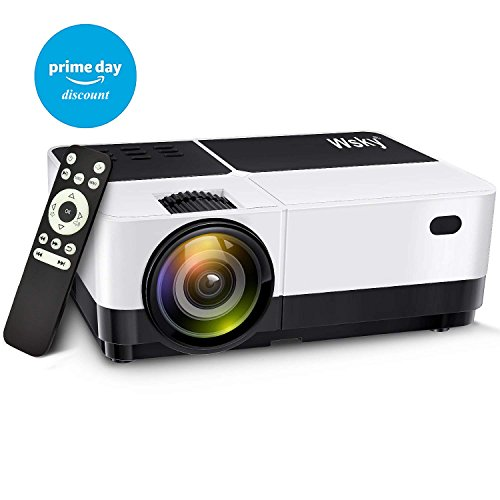 Wsky 2018 2500 Lumens LCD LED Portable Home Theater Projector Deal (Large Image)